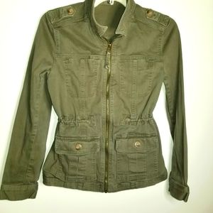 Express Extra Small Army Green Utility Jacket